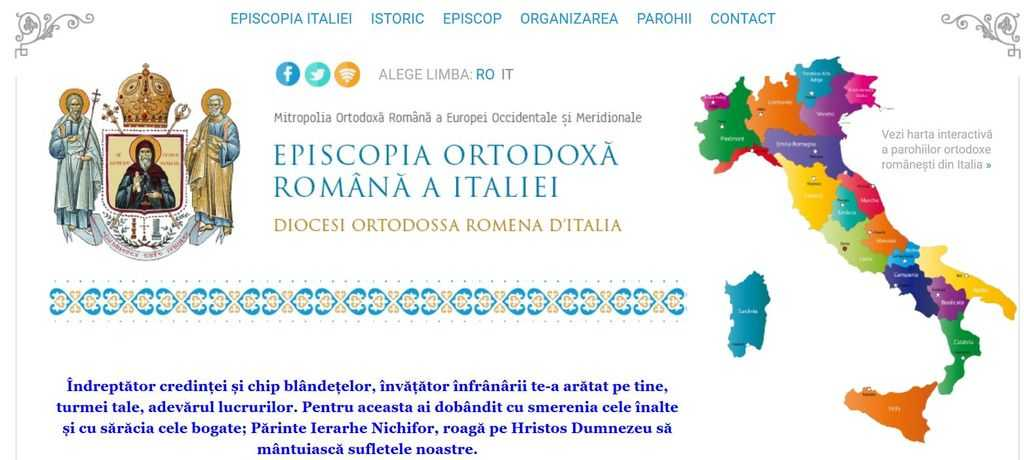 Episcopia italiei website