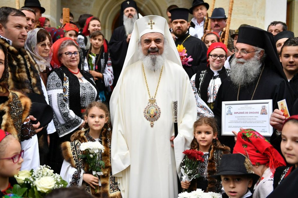 Patriarch Daniel at Putna Monastery. Glorification of the four Putna Saints