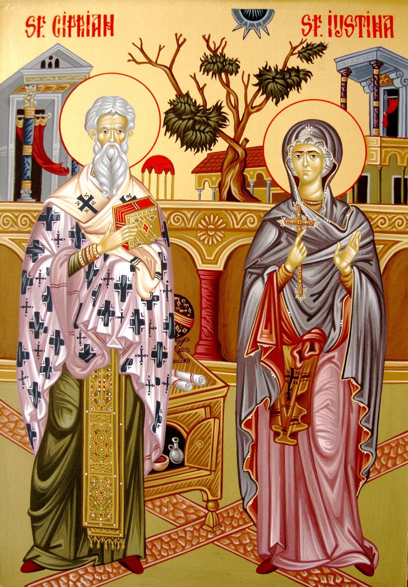 How does the prayer help Cyprian and Ustina